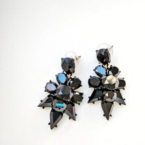 J. Crew Factory • Black Gem Dangle Earrings